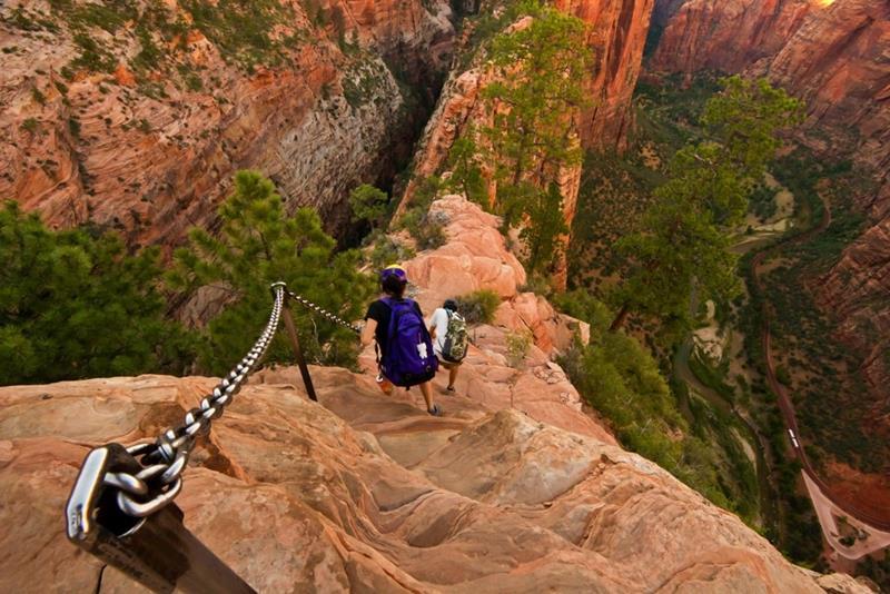 1 - 25 Most Treacherous Hiking Trails in the World - Angel's Landing, Utah