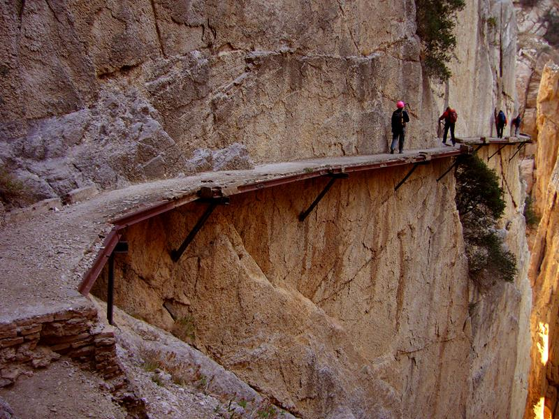 3 - 25 Most Treacherous Hiking Trails in the World - El Caminito del Rey, Spain