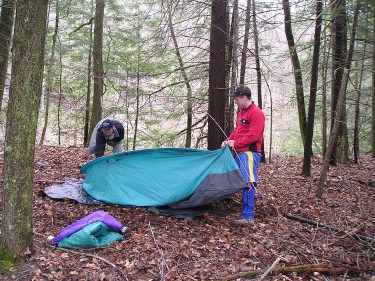 Setting up your backpacking tent
