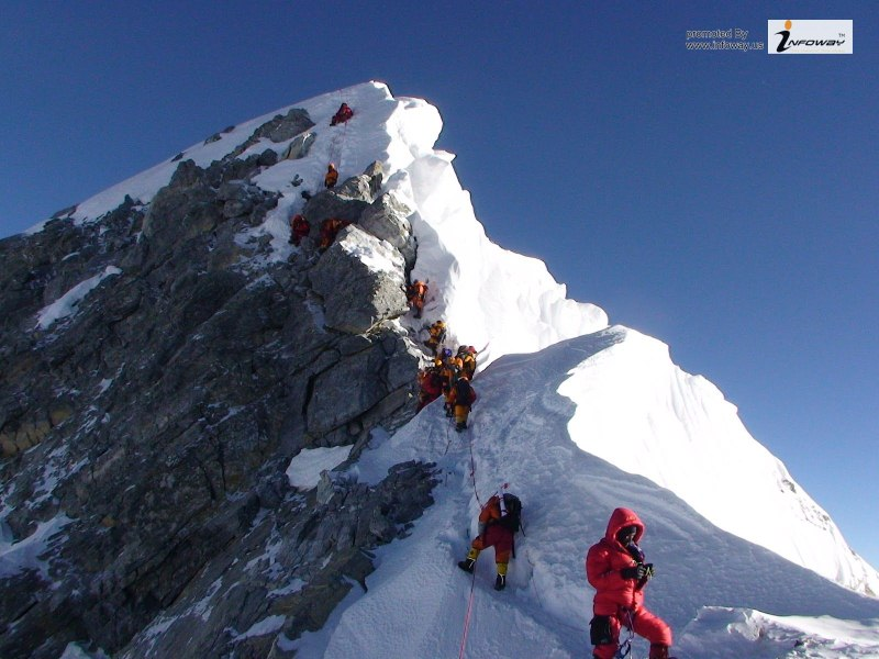 21-25 Everest Pictures - Climbing Everest