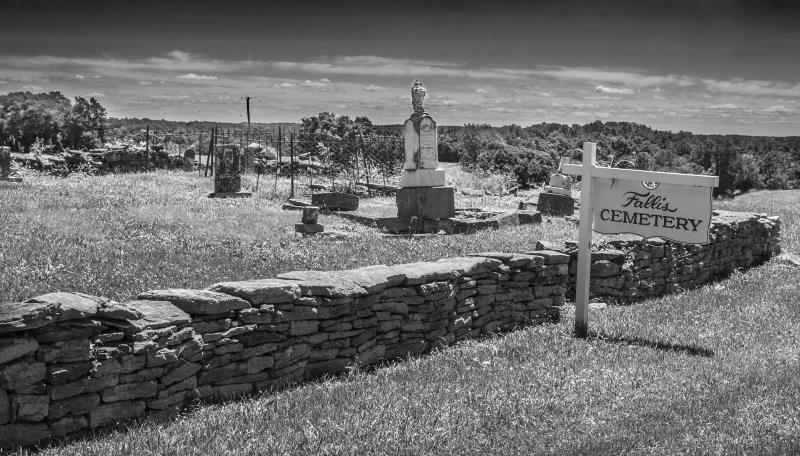 36) Oklahoma - Fallis cemetery Sugarcreek - Haunted Hiking Trails 50 States