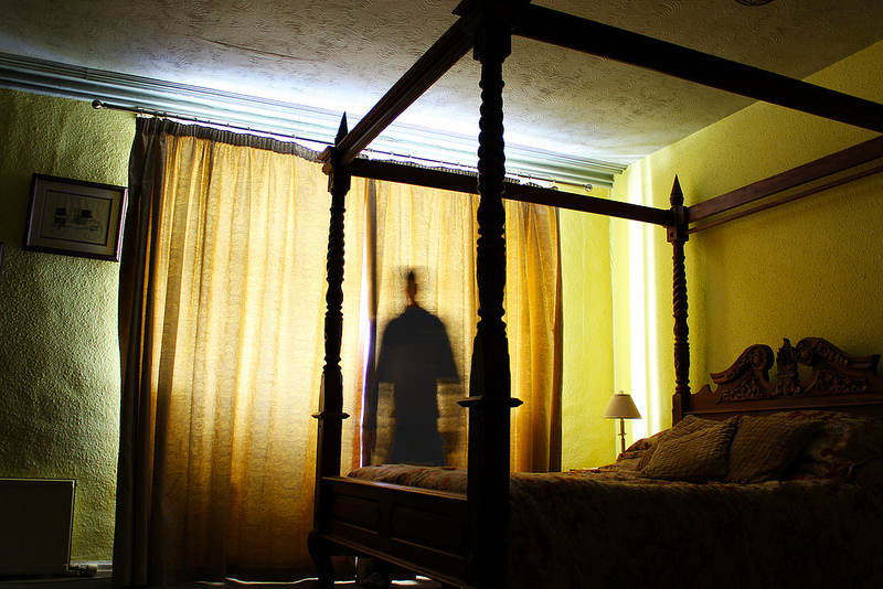 Ghost in the bedroom - haunted house signs