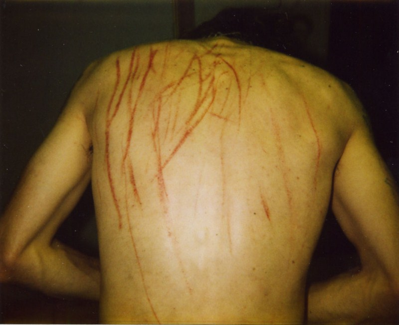 back scratched by ghost - haunted house signs