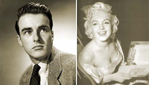 Montgomery Clift and Marilyn Monroe