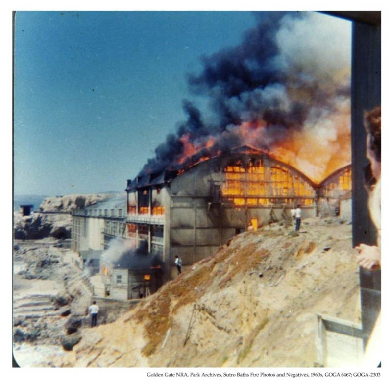 Raging fire burns down the Sutro Baths