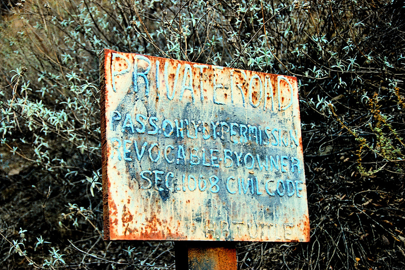 Warning Sign at Black Star Canyon