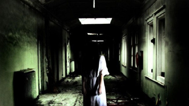 Ghost in hospital corridor
