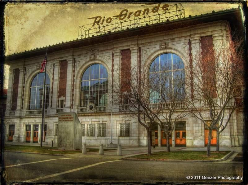 The haunted attraction Rio Grand train Depot in Utah