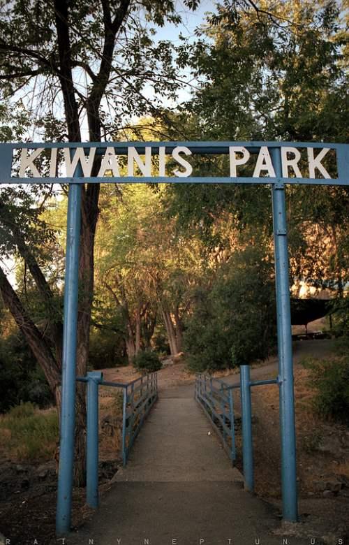 The haunted attraction Kiwanis Park in Utah