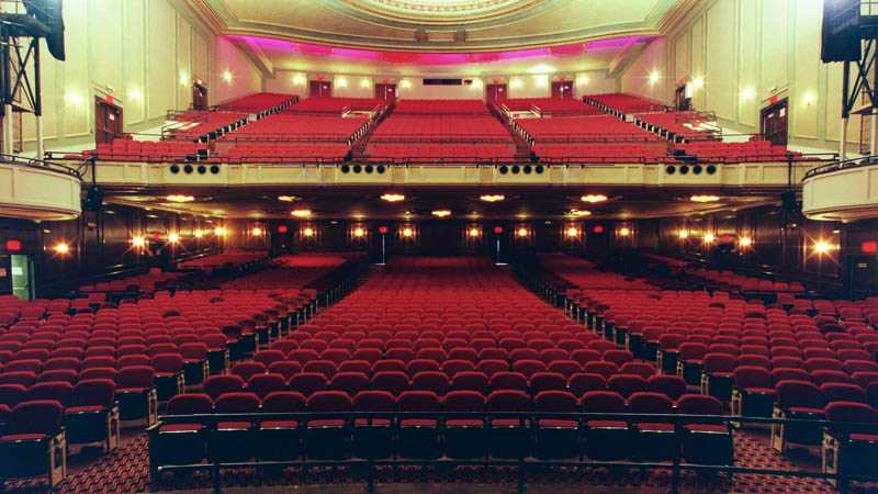 The Auditorium Theater in New York is one of many haunted attractions in the state