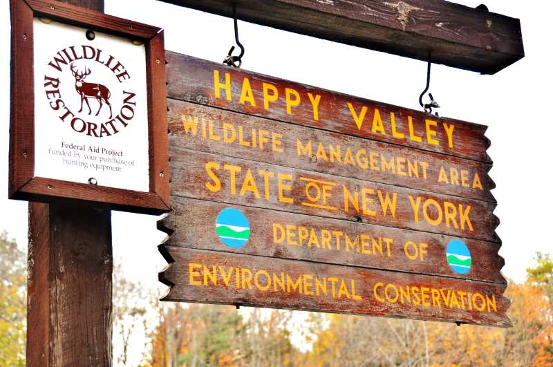 Another of New York's haunted attractions is the Happy Valley Wildlife Management Area
