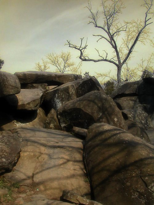The haunted Devil's Den in Gettysburg Pennsylvania