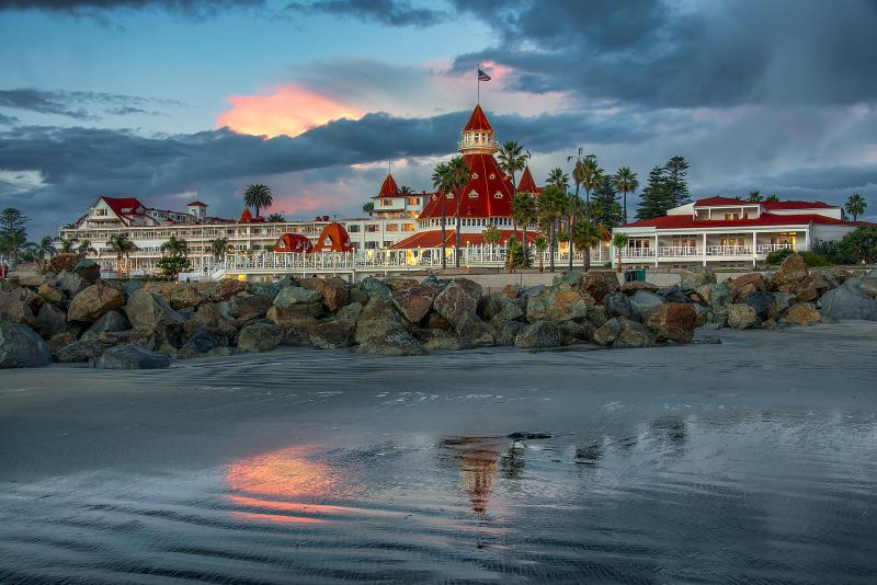 The Hotel del Coronado in Coronado is a beautiful haunted hotel in Southern California...