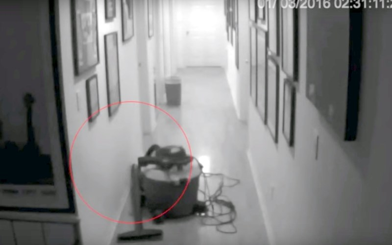 Scary Videos - Shadow Figure Attacking Baby Caught On Camera
