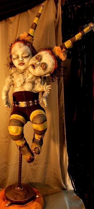 Freaky Twin Doll Toys with Its Victims
