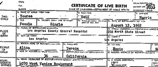 Miss Cleo Birth Certificate