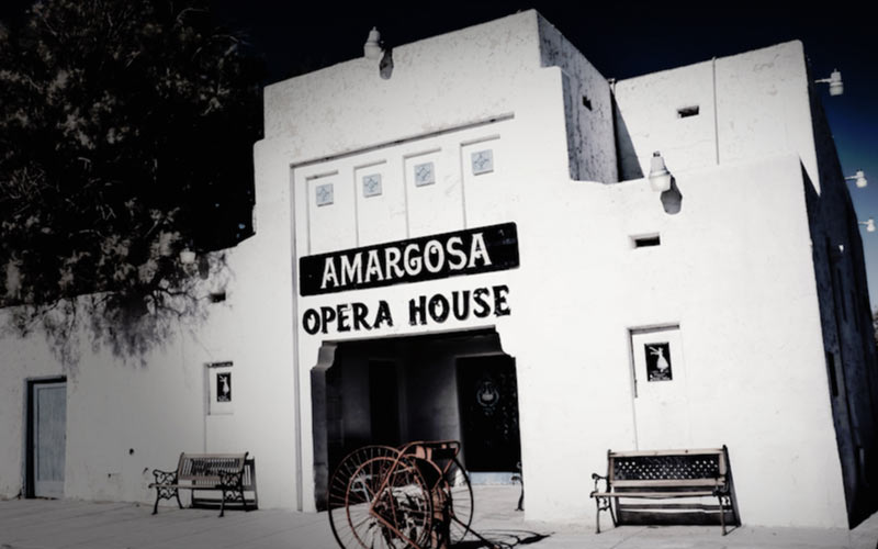 The Amargosa Opera House is one of those old, beautiful buildings where something just feels a bit... off, as soon as you walk through the door.