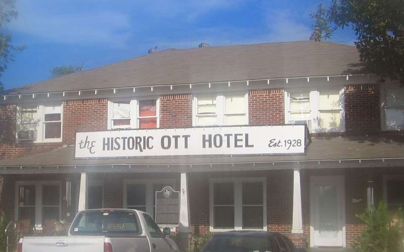 There's just something about historic buildings like the Ott Hotel that attached a certain unwanted type of paranormal guest.