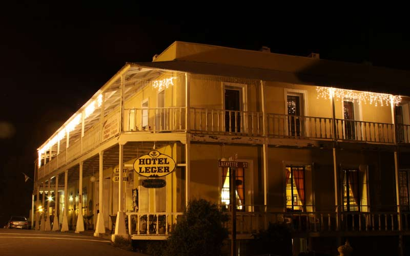 The Historic Hotel Leger is a hotbed of paranormal activity in Mokelumne Hill, CA.