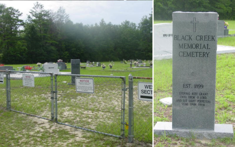 Black Creek Memorial is a small, haunted place in Freeport, FL.