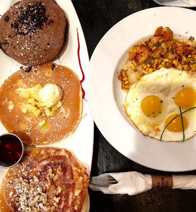Breakfast Republic's pancake flights let you try a bit of everything.