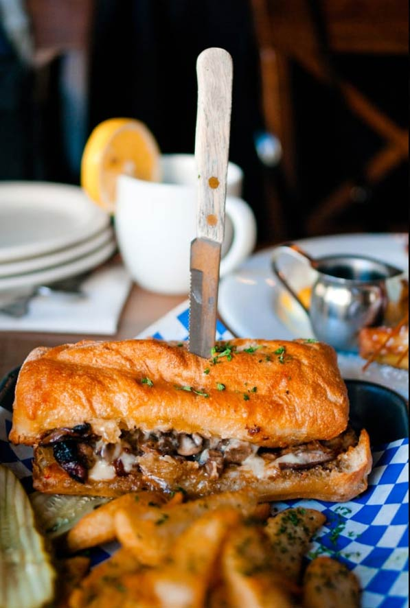Fact: a sandwich doesn't taste as good if it hasn't been stabbed with a knife. Check out this San Francisco favorite.