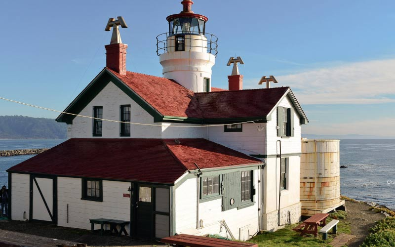 This old lighthouse in Crescent City is surprisingly haunted, even for a lighthouse.