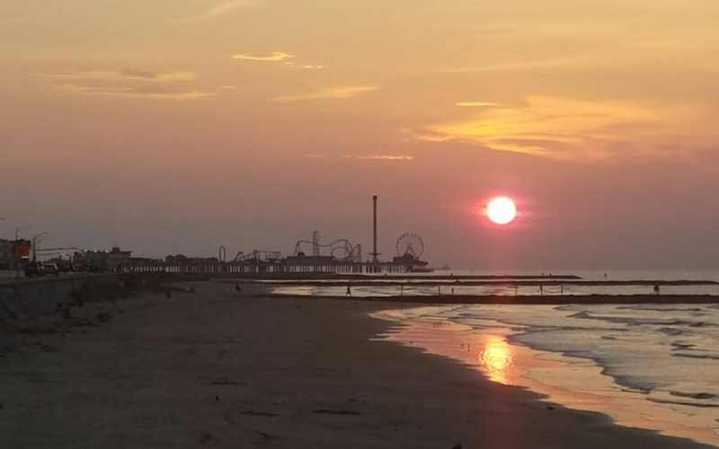 Galveston is home to this beach, which touches on a haunted boardwalk as well. Texas, why are you so damn haunted?