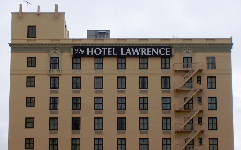The Hotel Lawrence has been in Dallas for nearly 100 years, that's a lot of time to become severely haunted.