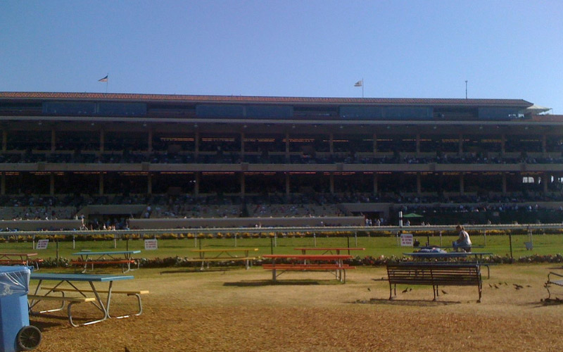 Del Mar Racetrack is the home to ghosts who have been known to follow people home.