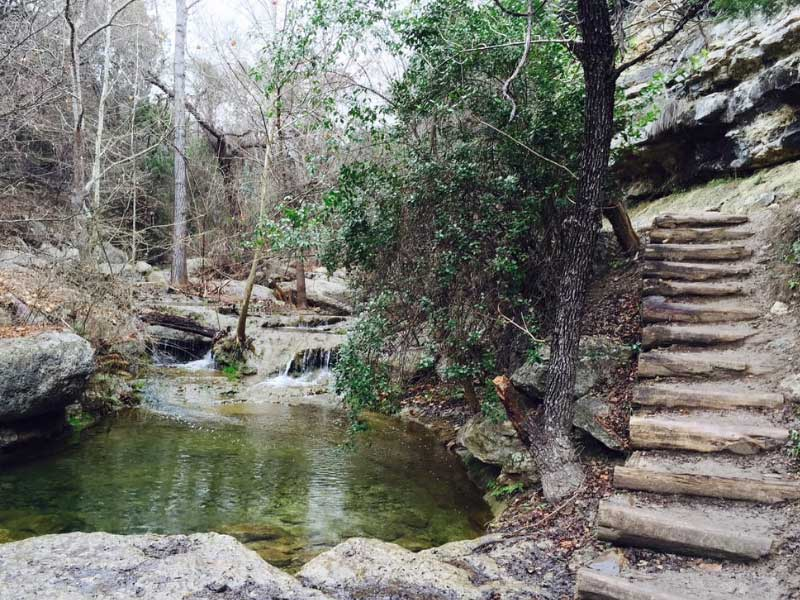 River Place Trail in Austin Texas, try to imagine a haunted trail but with that little extra bit of Austin vibe to it.