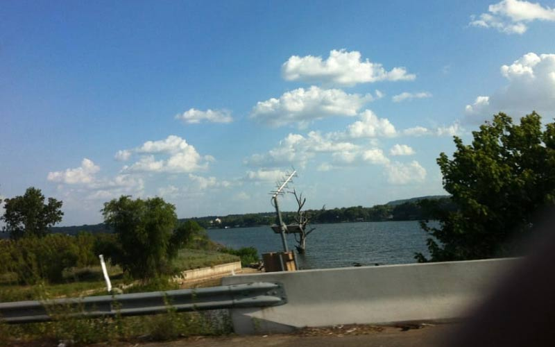 Lake Granbury in Texas... Careful, cameras have been known to malfunction around here.