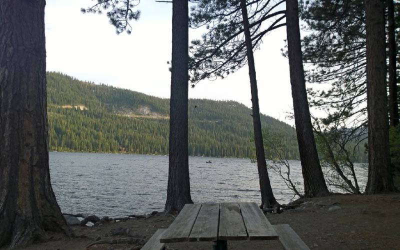 Donner Lake in Truckee is home to a strange old figure who slowly paces around off in the distance, but seems to disappear before anyone can get near.