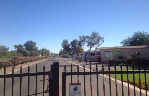 El Centro plays host to one of the most eerie RV parks you'll find in all of Cali.