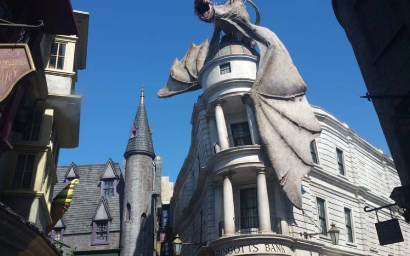 Diagon Alley in Orlando is a must-see for fans. It's not that old, but there have already been some paranormal reports, too.