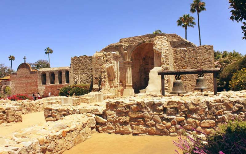 Mission San Juan Capistrano is a little more polished than certain missions, but the increased traffic doesn't bother t he not-so-restful spirits.