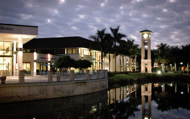 Florida Southwestern State College in Fort Myers has been known to receive reports of strange entities seen near the water.