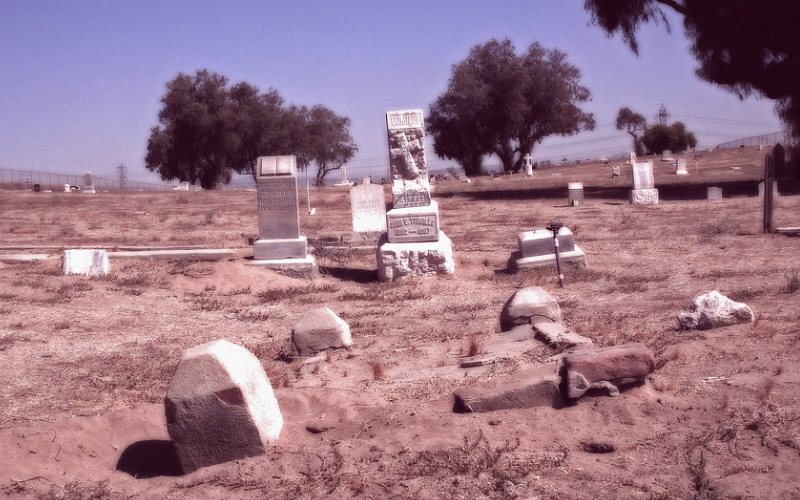 Agua Mansa Cemetery in Colton, CA (one of the most haunted places in California) - not all the spirits are restful, not all of them are peaceful.