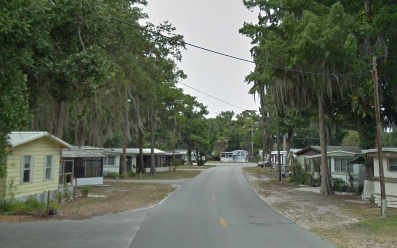 This haunted road in Okeechobee, Florida is near the trailer where a vicious murder occurred.
