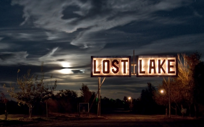 Lost Lake Road in Blythe, California is like a scene from a horror movie.
