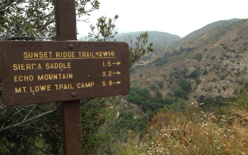 Take a ride down Sunset Ridge Trail in Altadena, California.