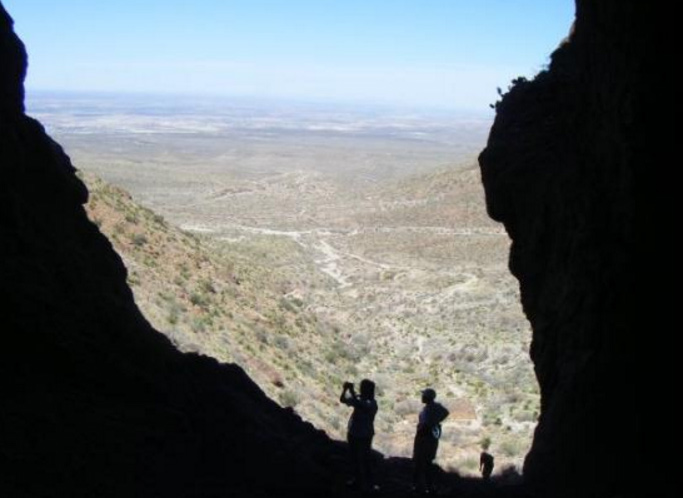 The Aztec Cave Trail is located at Franklin Mountains State Park in El Paso Texas, and you should leave the rest alone.