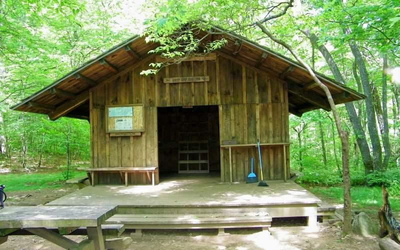 The Deep Gap Shelter, south of Dicks Creek Gap