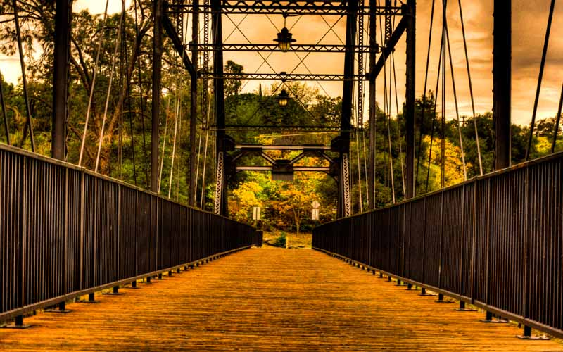 Historic Steel Truss Bridge – Folsom
