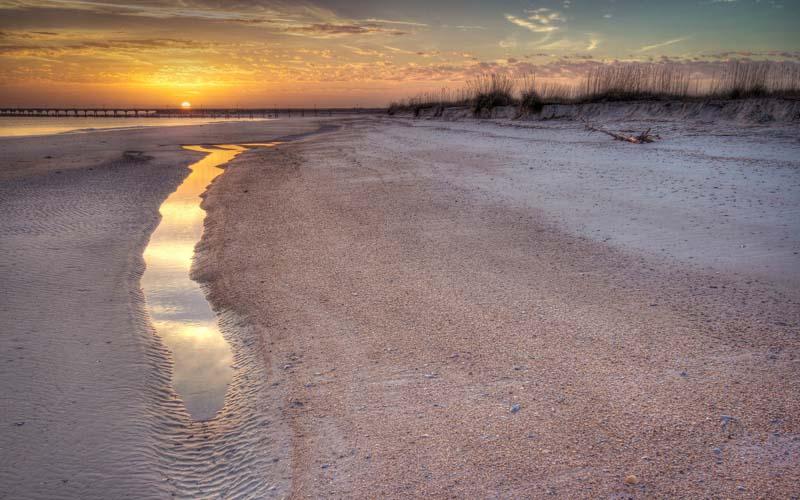 Main Beach Playground in Amelia Island, Florida