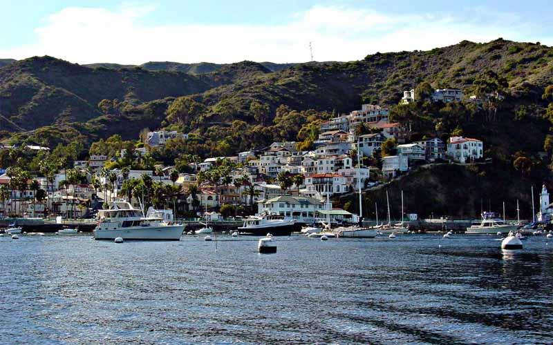 Avalon Bay in Catalina Island, California