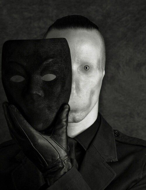 What does the mask even hide? What is under the skin?