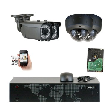 GW Security 5MP (2592x1920p) 8Ch NVR Home Security Camera System - HD