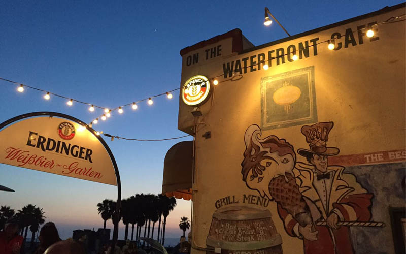 On The Waterfront Café in Venice-Beach, California