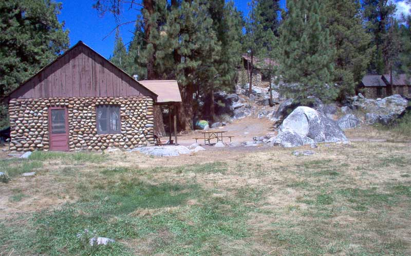 Historic Stone Cabins in Mono Hot Springs, California